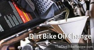 dirt bike oil change